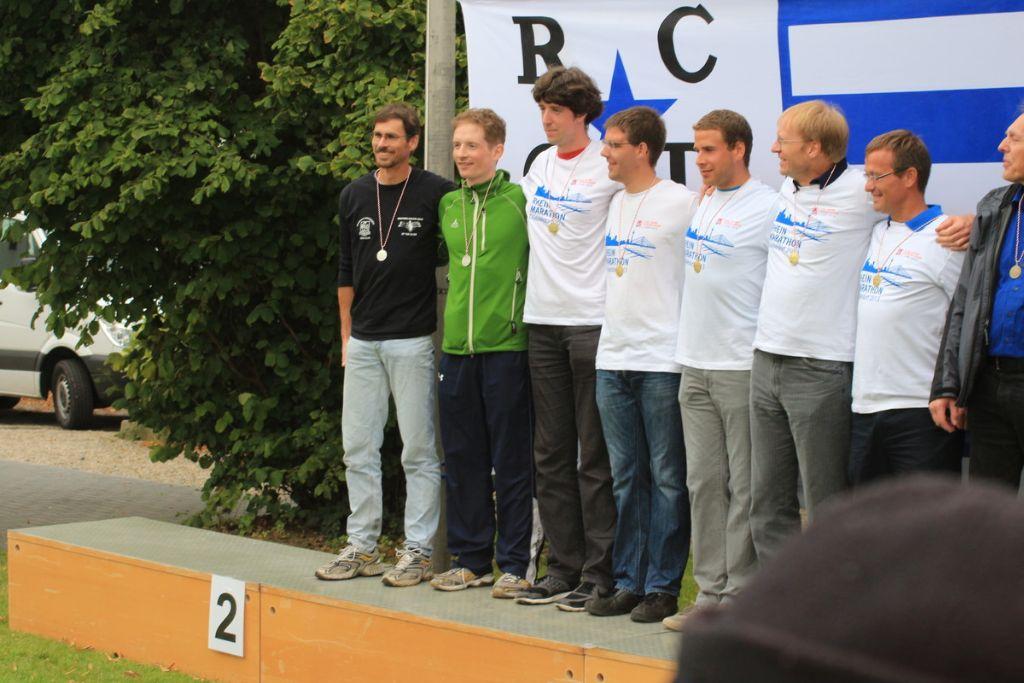 Siegerehrung der 5er, links Matthias Auer